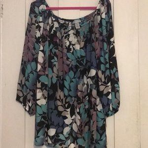 Catherine's long sleeve floral tunic